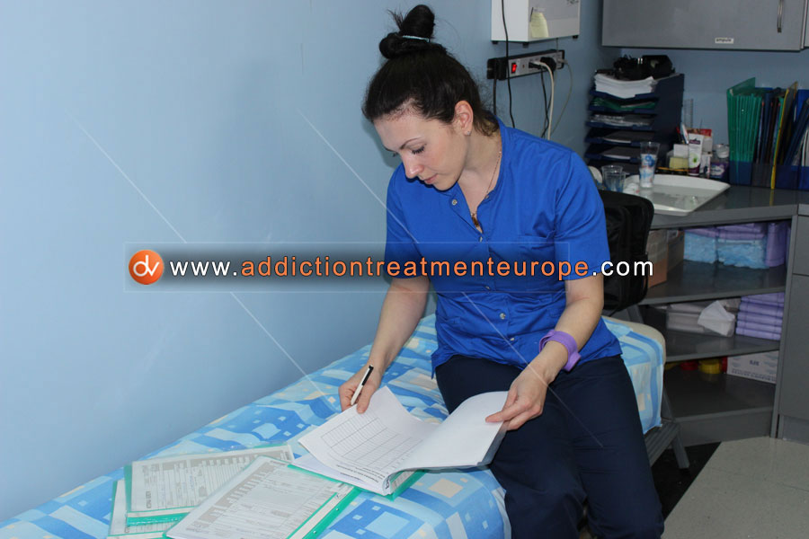 Drug addiction treatment first stage diagnostic